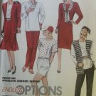 Misses' Jacket Vest Dress Tunic Skirt Shorts Pants Cowl, McCalls 4364 Pattern, Small 10 12, UNCUT