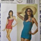 Retro Misses' Swimsuit Butterick B 6067 Pattern,  Sz 14 to 22, UNCUT