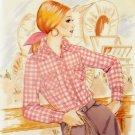 Vintage Kwik Sew 453 Pattern, Misses Western Blouse, Size 8, 10, 12 Uncut