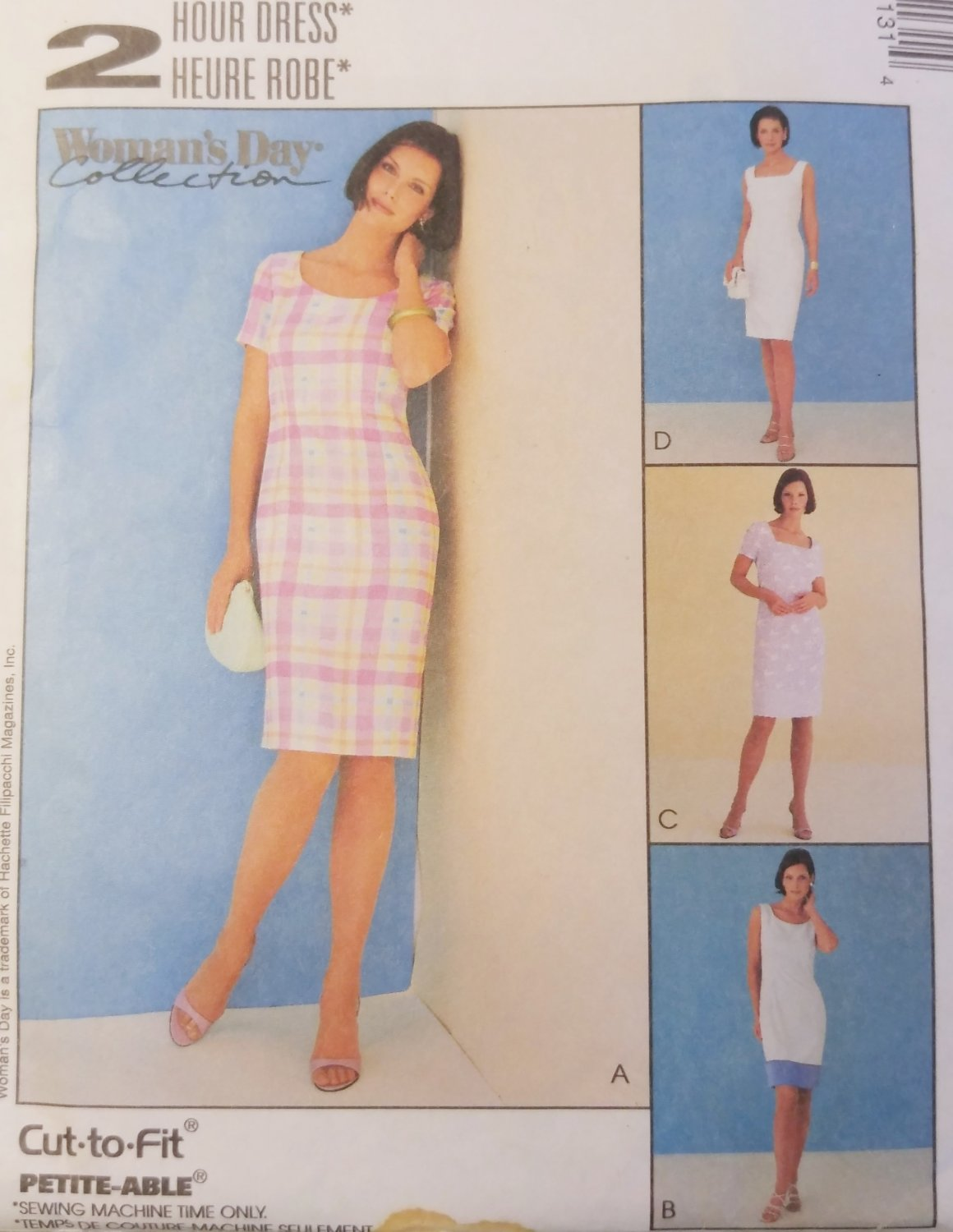 Misses' Summer Fitted 2 Hour Dress McCalls 2113 Pattern, Size 8 10 12, Uncut