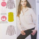 McCall's M6436 Misses'/Women's Button-Down Shirts  Pattern, Size 8 - 16, Uncut