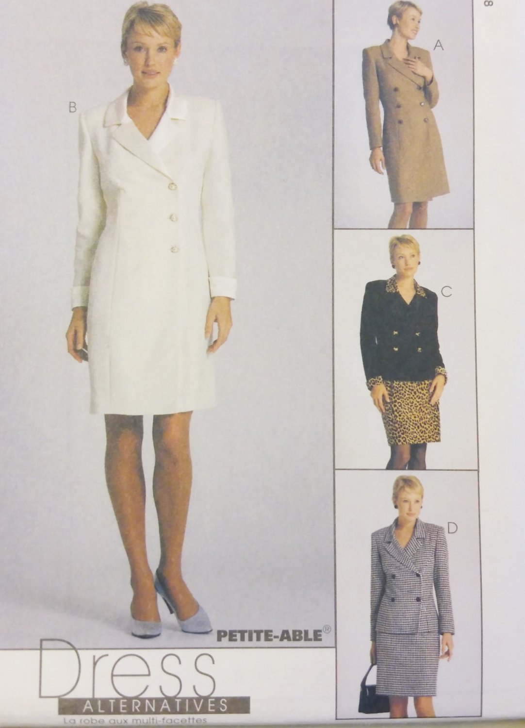 McCalls 9569 Misses Coatdress or Jacket and Skirt:Pattern, Sz 10, 12, 14, Uncut