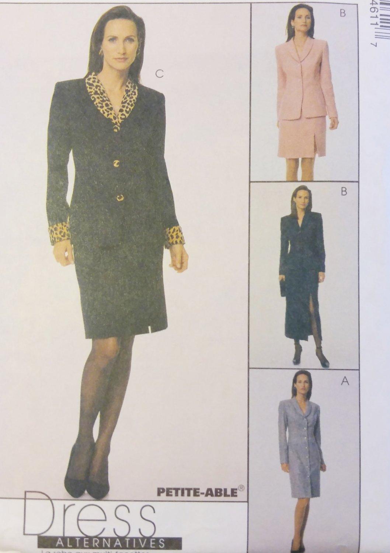 McCalls 9461 Misses CoatDress, Jacket,:Skirt in 2 Lengths: Pattern, Sz 10, 12, 14, Uncut