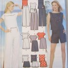 Misses' Pants or Shorts, Skirt and tops Simplicity 5969 Pattern, Plus Sz 12 To 20, Uncut