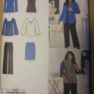 Women's Pants Skirt Jacket or Vest Knit Top Simplicity 2344 Pattern, Plus Size 20W to 28W, Uncut