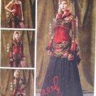 Women's Bolero, Corset, Skirt and Pick-up Overskirt McCalls M6911 Pattern, Size 14 To 22, Uncut