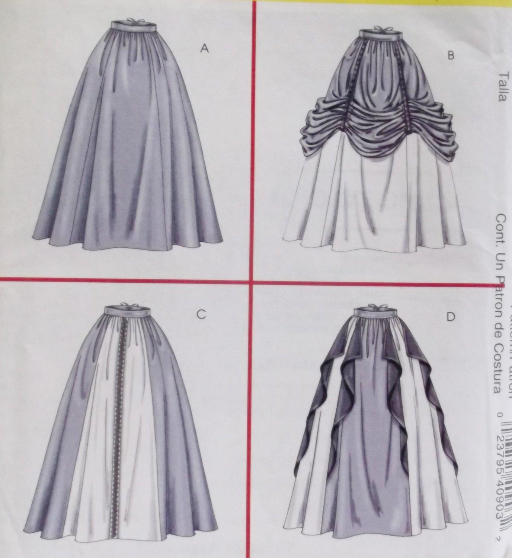 Misses' Renaissance Skirts Costume McCalls 4090 Pattern Sz 14 to 20 Uncut