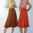 Vintage Butterick 6860 Misses Flared 8 Gored Skirt  Pattern, Size 14, UNCUT