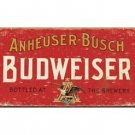 Budweiser - Anheuser-Busch Bottled at the Brewery Tin Sign