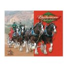 Budweiser Beer Clydesdales Tin Sign