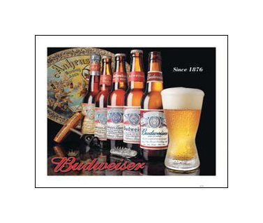 Budweiser - History of Bud Tin Sign