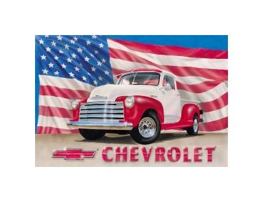 Chevy - 51 Pickup Truck Tin Sign