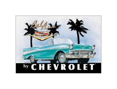 Chevy - Bel Air Chevrolet Tin Sign
