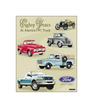 Ford - Trucks 80 Years Tribute Tin Sign