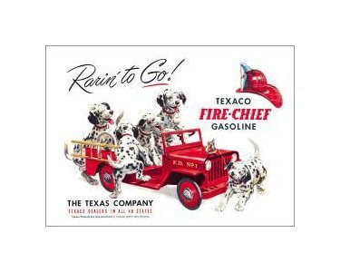 Texaco - Rarin to Go Tin Sign