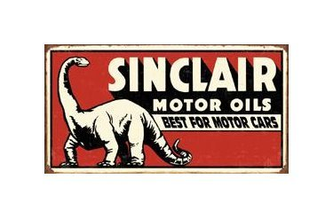 Sinclair Motor Oils - Best for Motor Cars Tin Sign