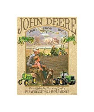 John Deere - 3rd Century Tin Sign