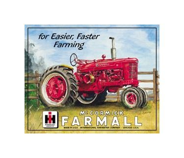 International Harvester - McCormick  Farmall Tin Sign