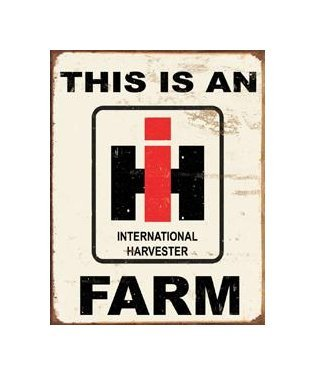 International Harvester - This is an International Harvester Farm Tin Sign
