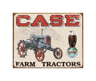Case - Farm Tractors Tin Sign