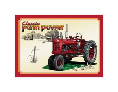 Classic Farm Power - Tractor - Air Waves Tin Sign