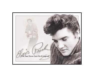 Elvis Presley - Sun Never Sets Tin Sign