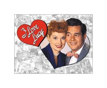 I Love Lucy - Lucy and Desi Tin Sign