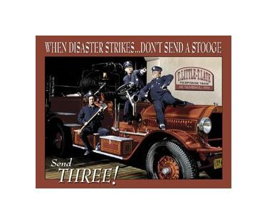 Three Stooges - Fire Department Tin Sign