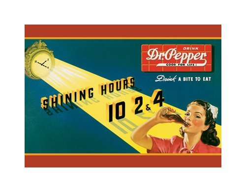 Dr. Pepper - Shining Hours Tin Sign