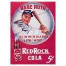 Red Rock Cola - Babe Ruth Tin Sign