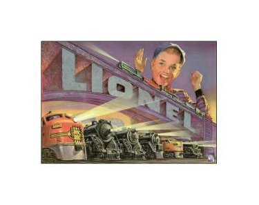 Lionel Trains - 1952 Tin Sign