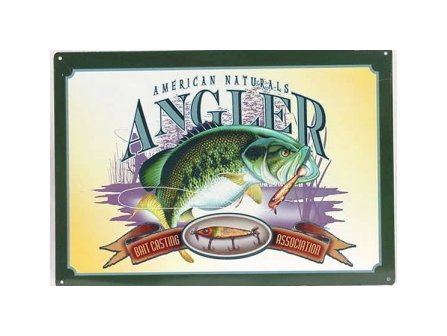 Fishing - American Natural's Angler - Bait Casting Tin Sign