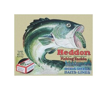 Fishing - Heddon Fishing Tackle Tin Sign