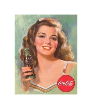 Coca Cola - Coca Cola Girl, Beautiful Brunette Tin Sign