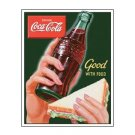 Coca Cola - Good With Food Tin Sign
