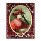 Coca Cola - Coca Cola Girl, Victorian Red Dress Tin Sign