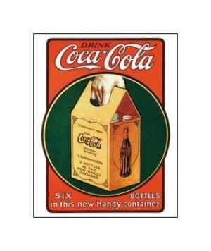 Coca Cola - Handy Six Pack Tin Sign