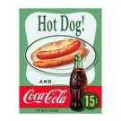 Coca Cola - Enjoy Coca Cola with a Hot Dog Tin Sign