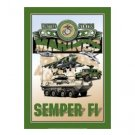 United States Marines - Semper Fi Tin Sign