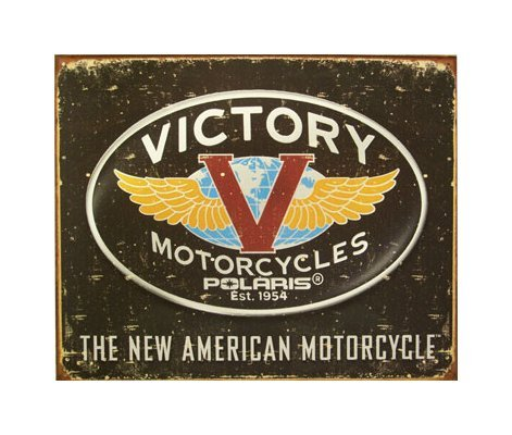 Victory Motorcycles - Logo Tin Sign