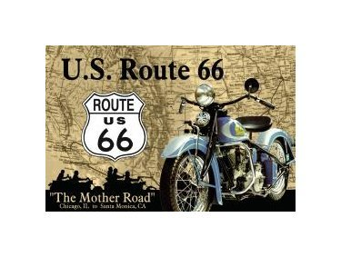 Route 66 - The Mother Road Tin Sign