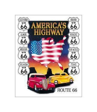 Route 66 - American Highway Tin Sign