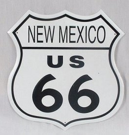 Route 66 - New Mexico Tin Sign