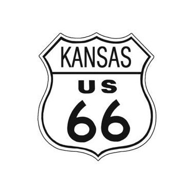 Route 66 - Kansas Tin Sign