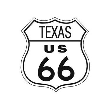 Route 66 - Texas Tin Sign