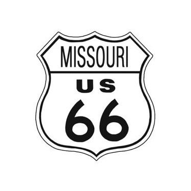 Route 66 - Missouri Tin Sign