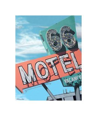 Route 66 - 66 Motel Tin Sign