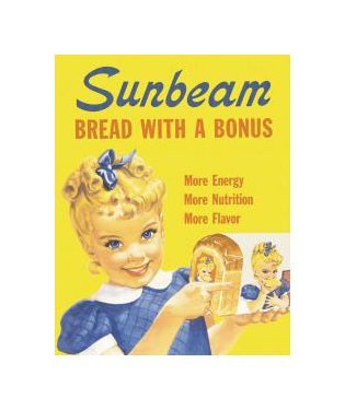 Little Miss Sunbeam - Bread with a Bonus Tin Sign