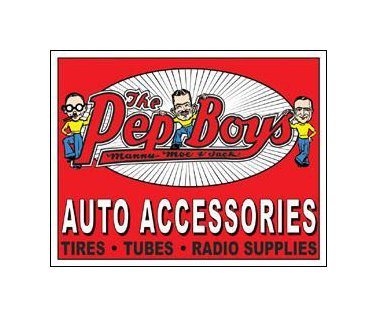 Pep Boys - Auto Accessories Tin Sign