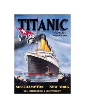 Titanic - White Star Line Tin Sign